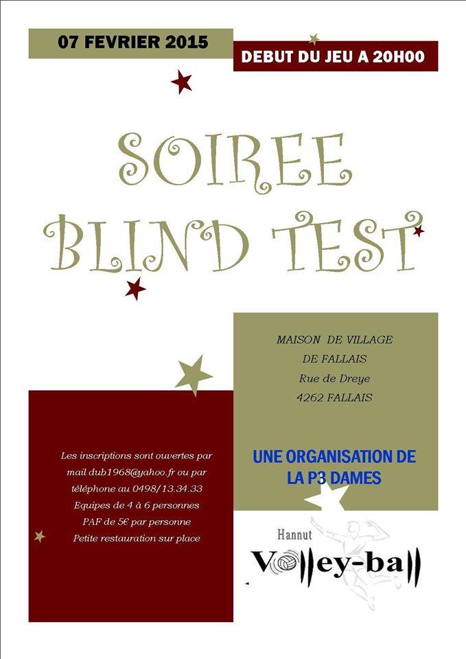 Soirée Blind Test VBC Hannut 2015